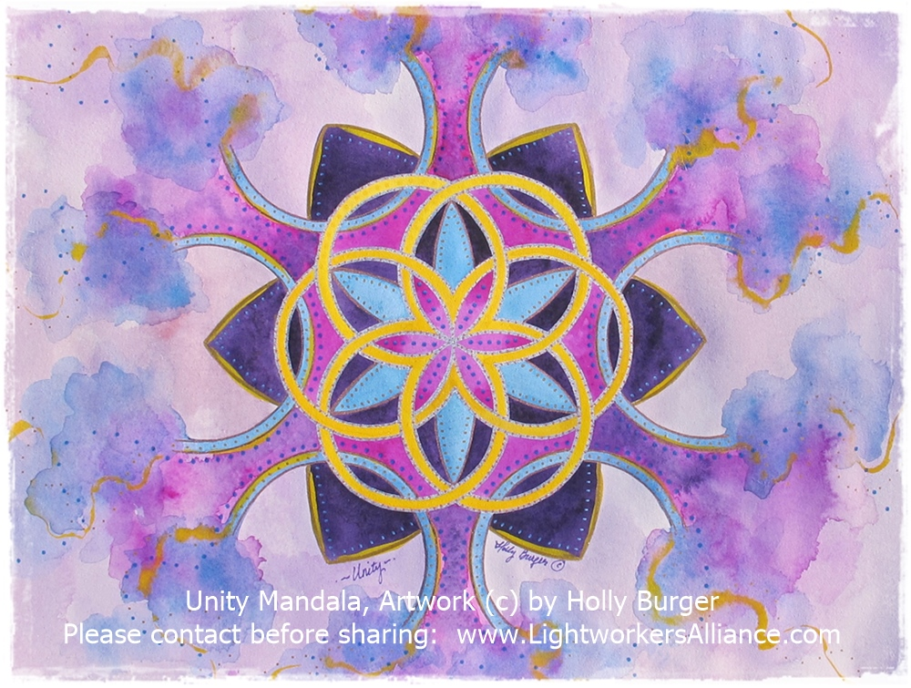 Unity Mandala by Holly Burger Watercolor on Paper