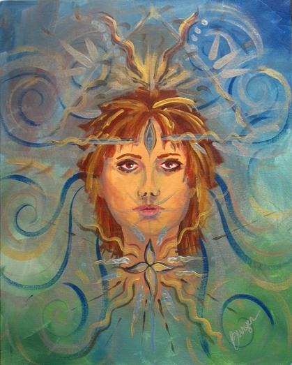 Breathe by Holly Burger, Acrylic on Canvas