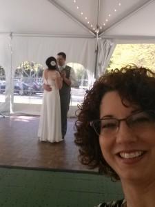 Shameless selfie during the wedding dance!