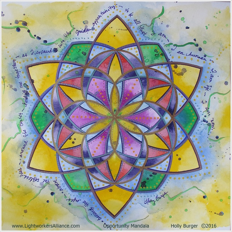 Opportunity Mandala by Holly Burger. Feel free to download and share with credits, thank you!!